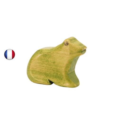 figurine grenouille, jouet en bois walforf steiner inspiration ostheimer