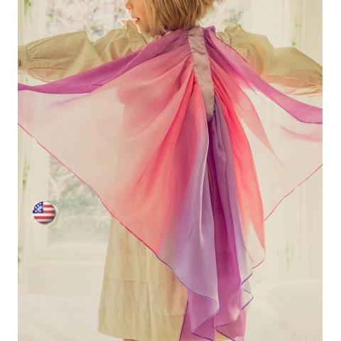 Ailes de déguisement en soie, costume deguisement papillon, elfe, fée waldorf steiner de Sarah's silks