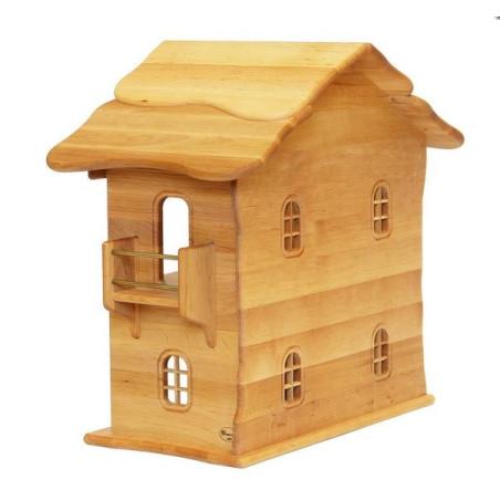 Maison de poupée en bois massif