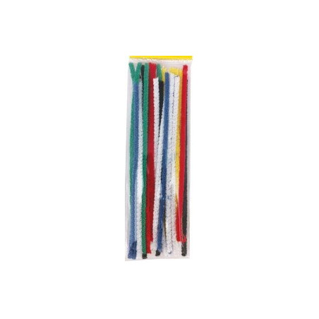 Cure-pipes chenille multicolores, lot de25