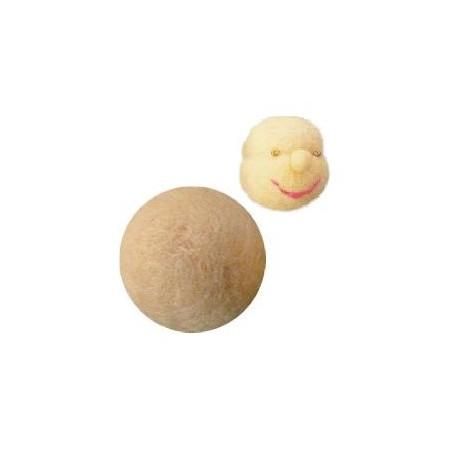 5 Boules de laine pour tête de poupee waldorf