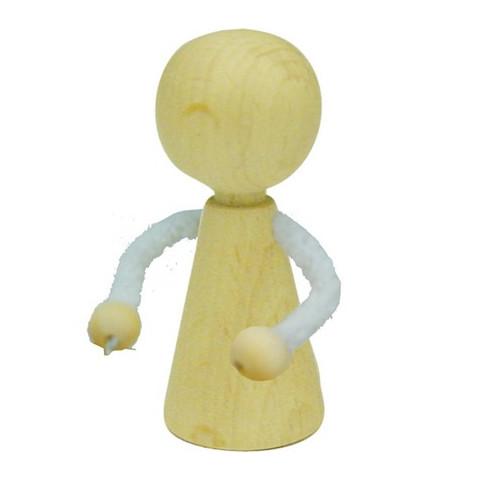 Pion poupée en bois, peg doll à decorer, 5cm