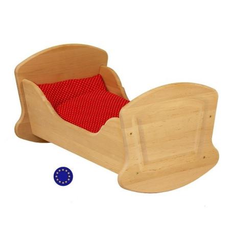 Berceau, lit de poupée en bois