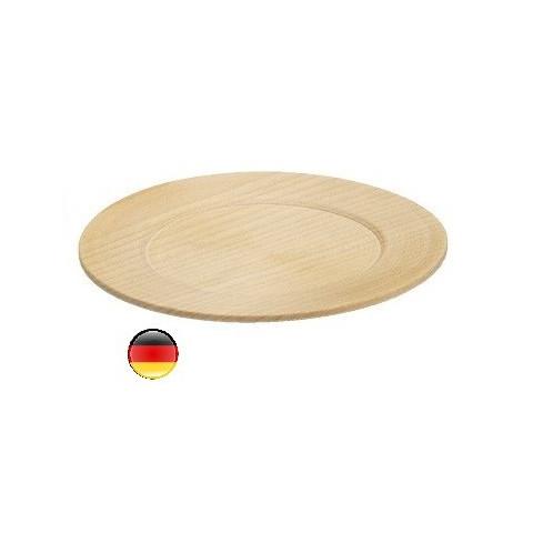 Assiettes en bois naturel pour dinette erzi