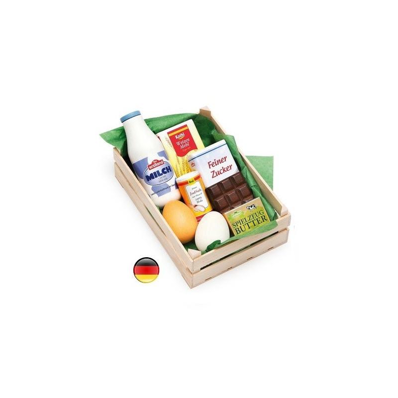 cagette Epicerie en bois, jouet pour marchande erzi