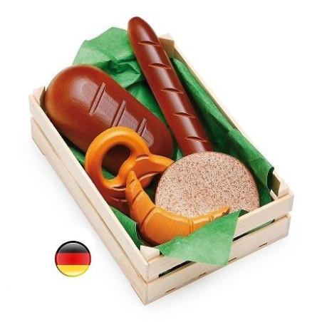 Grande cagette boulangerie en bois pour marchande