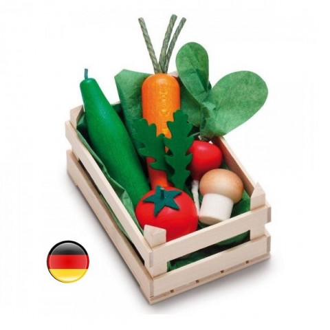 cagette de légumes en bois, jouet erzi