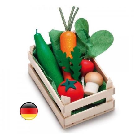 Cagette de légumes en bois