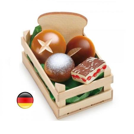 Cagette boulangerie en bois pour marchande