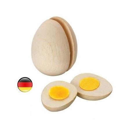 Oeuf à couper en bois pour la dinette