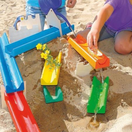 Circuit d'eau ou billes pour le sable, jouet Erzi