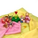 Soie, 3 foulard assortis, teinture végétale, table saison