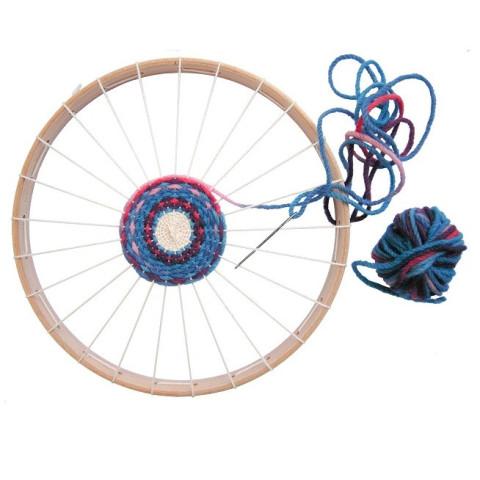 Kit tissage: métier à tisser rond et laine bio