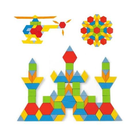 Attrimaths, jeu de  mosaïque Geométrique en bois