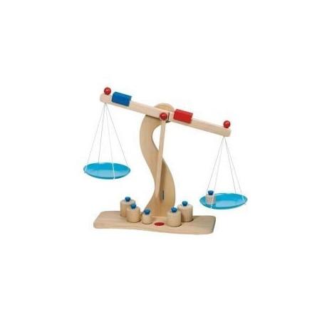 Balance pour marchande, en bois
