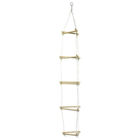 Balancoire échelle de corde, triangle  en bois de goki