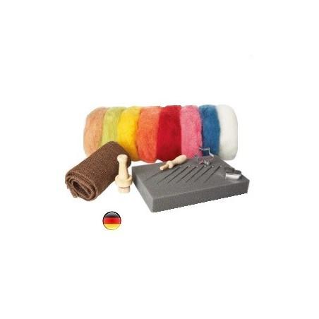 kit créatif : laine feutrée bio