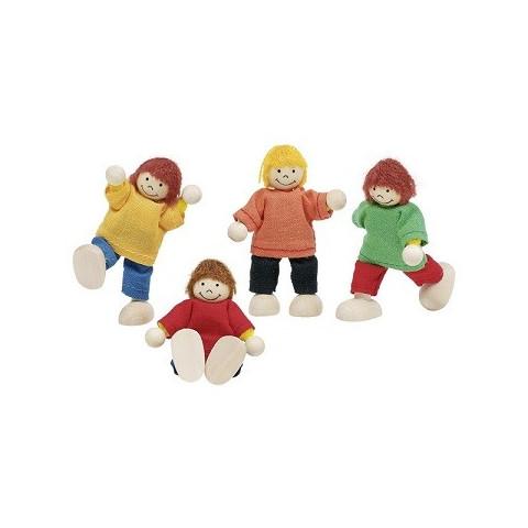 Poupées articulées : enfants en bois goki