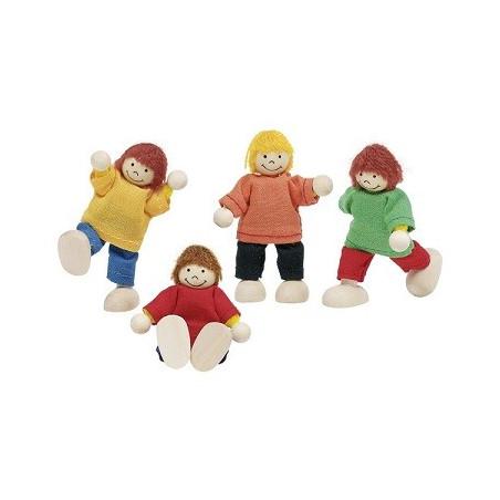 Poupées articulées : enfants en bois