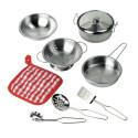 Casseroles et ustensiles de cuisine en métal pour dinette goki