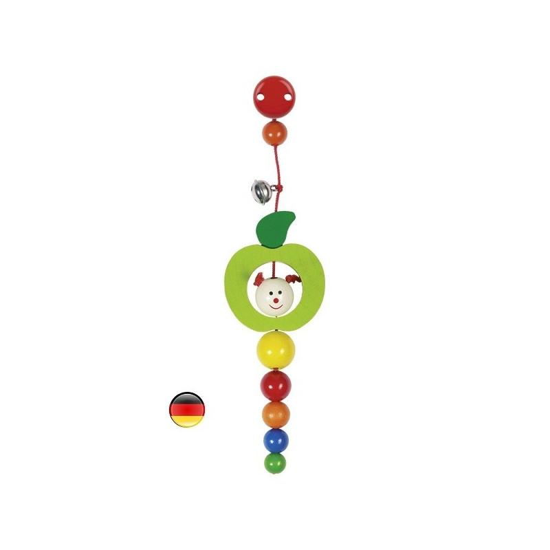 Clip hochet chenille, jouet en bois Heimess