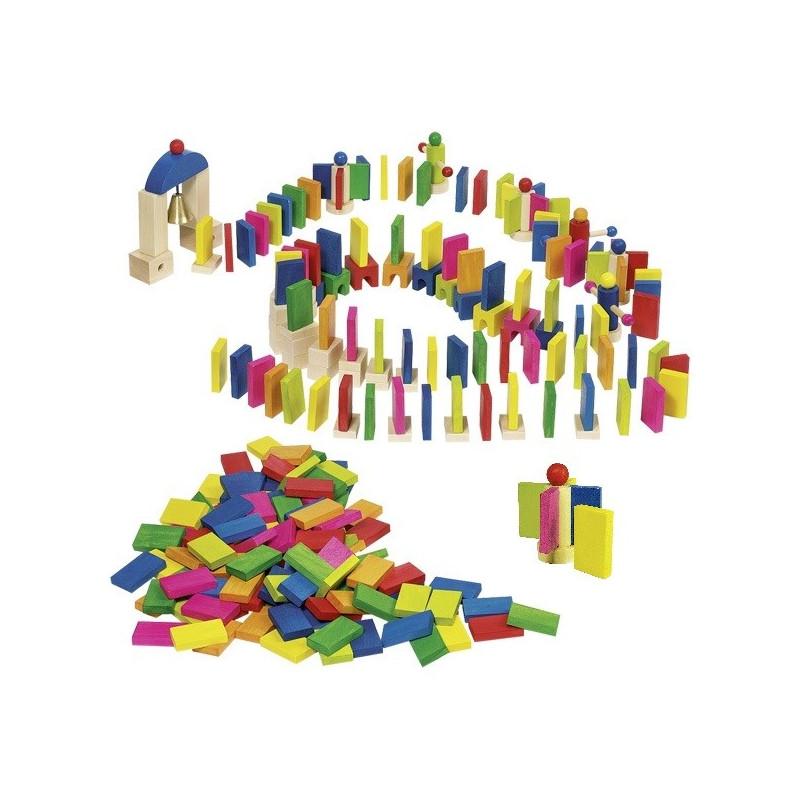 Domino Rallye et cascade jouet en bois goki