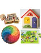 Puzzles pour petits et mandalas pour enfants, jouets en bois naturel